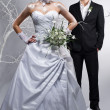 Stock Photo: Bride and groom
