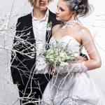 Beautiful bride and groom — Stock Photo