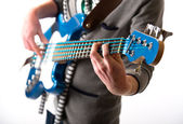 Man playing a guitar — Foto de Stock