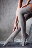 Beautiful woman legs in stockings — Stock Photo