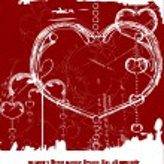 Grunge Valentine — Stock Vector