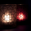 Stylized candles with light - Stock Photo