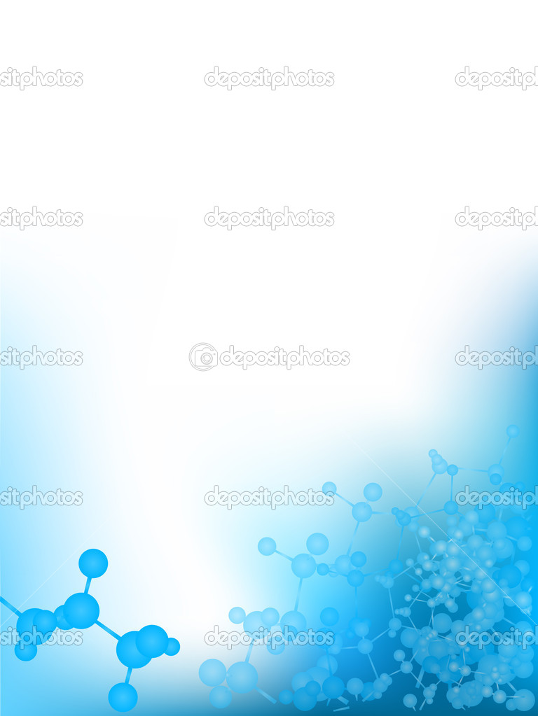 Blue scientific background with molecules, vector illustration — Stock Vector #4857616