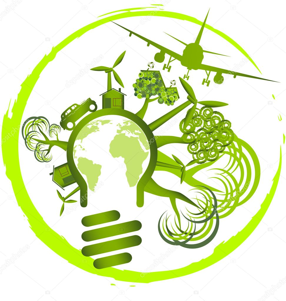 Environment design - use green energy for life — Stock Vector #4857620