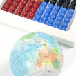 World and Abacus — Stock Photo