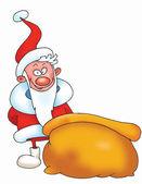 Santa isolated on white — Stock Photo