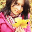 Autumnal portrait — Stock Photo