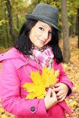 Dívka v klobouku — Stock fotografie