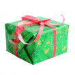 Gift in  green — Stock Photo