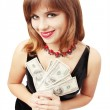 Woman holding money — Stock Photo #4246082