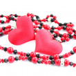 Stock Photo: Pair of red hearts