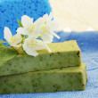 Stock Photo: Soap and jasmine