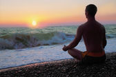 Man in the meditation — Stock Photo
