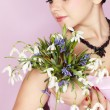 Girl with the bouquet — Stock Photo #5281383