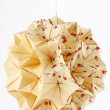 Handmade Origami Kusudama paper ball — Stock Photo #4244150