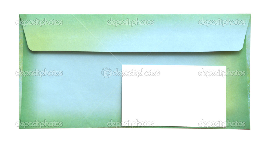 Envelope with empty card isolated on white background — Stock Photo #3981392