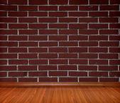 Room interior vintage with brick wall — Stock Photo