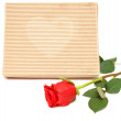 Red rose and gift box — Stock Photo #4172704