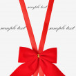 Red holiday bow on white background — Stock Photo