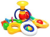 Set of beautiful children's toys for the kids — Stock Photo