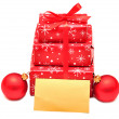 Stock Photo: Christmas gift boxes