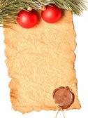 Cristmas palle decorazione rosso — Foto Stock