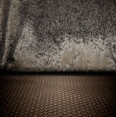 Grunge metal interior — Stock Photo
