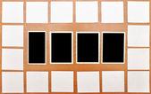 Samling av vita anteckningar — Stockfoto
