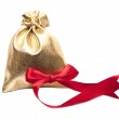 Open bag of gifts — Stock Photo