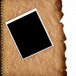 Royalty-Free Stock Photo: Old paper and photo frame