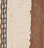 Stary papier na granicy drewna tło — Zdjęcie stockowe