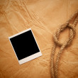 Rope and old photo — Stock Photo