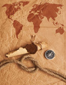 Scroll with wax seal and rope — Stockfoto