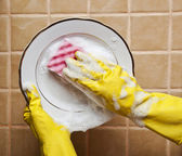 Washing plate — Stock Photo