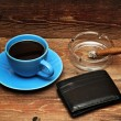 Coffee, cigars and purse - Stock Photo