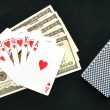 Royal flush from the poker cards — Stock Photo
