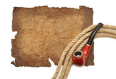 Pipe and rope — Stock Photo