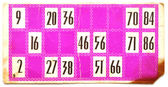 Old lotto card — Stock Photo