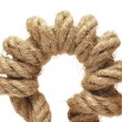 Close up of rope part on white background — Foto de Stock