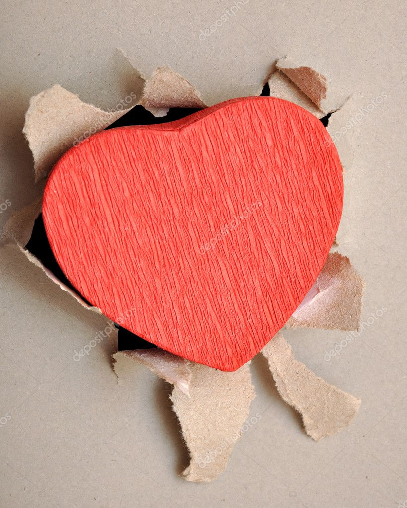Torn paper heart — Stock Photo #4927481