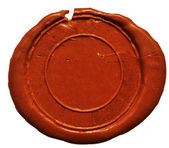 Empty wax seal — 图库照片