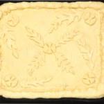 Raw pie dough crust — Stock Photo