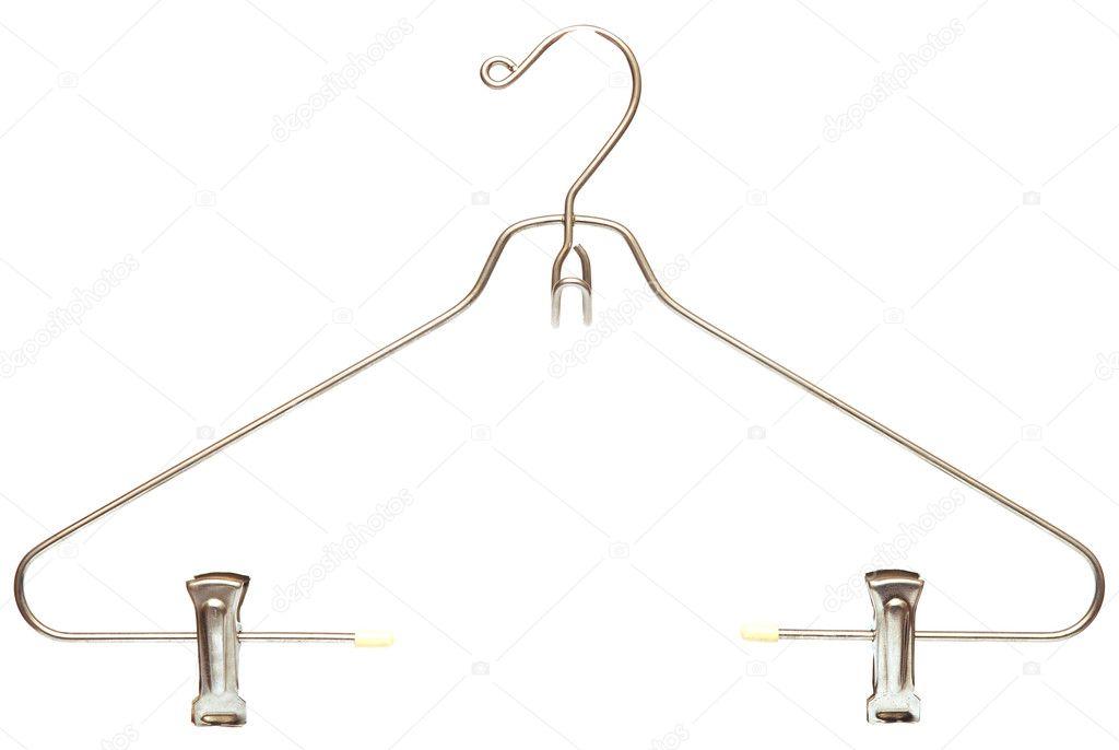 Metallic clothes hanger stock photo inxti74 5221440 for Clothespin photo hanger