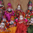 Sitting Indian puppets — Stock Photo