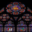 Glass window of Notre Dame — Stock Photo #3995509
