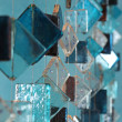 Blue decorative glass mobile — Stock Photo