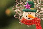 Snowman decorative object — Stock Photo