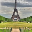 Stock Photo: HDR Eiffel & Bridge