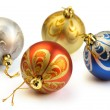 Isolated Christmas baubles — Stock Photo