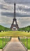 HDR Eiffel & Bridge — Stock fotografie